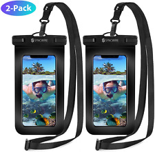 Syncwire Waterproof Phone Case, 2-Pack Universal IPX8 Waterproof Phone Pouch Dry