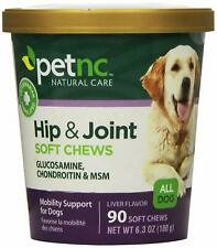 PetNC Natural Dogs Hip And Joint Soft Chews Glucosamine-MSM-Chondroitin (90 ct)