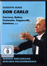DVD VERDI DON CARLO Jose Carreras Furlanetto Cappuccilli Salminen Baltsa KARAJAN