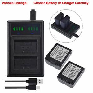 Battery /USB Charger for Panasonic Lumix DMC-FZ7BB FZ18 FZ28 FZ8 CGA-S006E S006