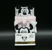 DISNEY Mickey & Minnie Maus 3 Paar Socken Sneaker 37-42 Mouse Ohren Schleife