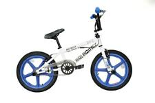 "2019 Rooster Big Daddy Kids 18"" Skyway Mag Wheels BMX Bike Gyro WhiteBlue RS133M"