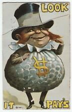 RARE Mechanical Postcard Advertising Clothing 1914 Tailoring Bradford NY & Phily