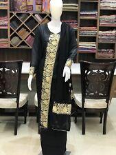 Angrakha Style Zari Embroidered Kashmiri Suit Indian Ethnic Silk Salwar Kameez