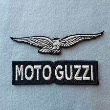 PATCH MOTO GUZZI ARGENTO PZ 2 RICAMATE TERMODESIVE -REPLICA-COD 431