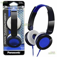 Nuevo Panasonic en Oído Street Ligero Auriculares Plegables Azul RPHXS200EA