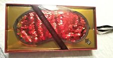 Valentines gift eye mask for sleeping outer layer is reversible red in gift box