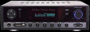 100 Watt Verstärker+UKW Radio Digital Anzeige,Karaoke, USB/SD/MP3 Bluetooth