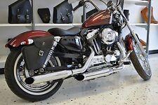 Harley SPORTSTER RIGHT Side BLACK SOLO BAG Saddlebag - SR04 BAD&G CustomS