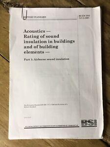 British Standard B S EN ISO 717-1 1997 Acoustics Rating Of Sound Insulation
