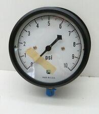 """Ametek US Gauge P721 Dial Pressure Gauge 0-10 PSI, 4-1/2"""" Dia, 1/4"""" NPT"""
