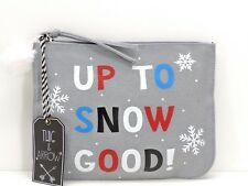 "Twig & Arrow ""Up To Snow Good"" Cosmetic Bag Case Makeup Travel Pouch New!"