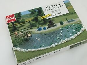 HO scale layout accessories - Garden Pond Set by Busch