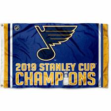 St. Louis Blues 2019 Stanley Cup Champions Large Grommet Flag