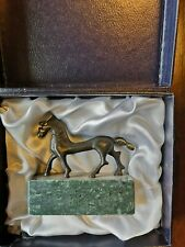 Beautiful RARE bronze horse statue sculpture in box (abstract,contemporary art)