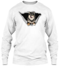 Torn - Finnish Lapphund Classic Long Sleeve T-Shirt - 100% Cotton By Bean