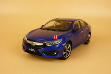 1/18 2016 China New Honda civic diecast model blue color + gift