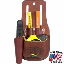 Occidental Leather 5047 Leather Tape & Knife Holder with Four Pockets