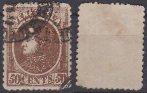 *VENEZUELA*     Sg. 110,   BOLIVAR,   50c,   1880,   Used