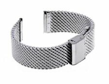 20mm Mesh Stainless Steel Bracelet Wrist Watch Band Strap Fit WENGER SWISS ARMY