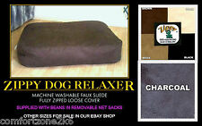 Zippy Faux Suede Beanbag Dog Bed Jumbo Size Bean Bag Sofa Mattress Extra Large