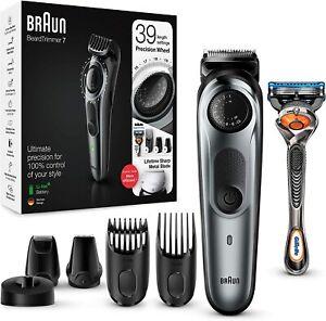 Braun Beard Trimmer BT7240 and Hair Clipper for Men, Lifetime Sharp Metal Blades