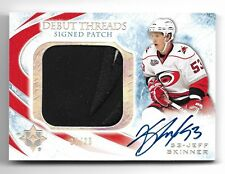 2010-11 Ultimate Collection Jeff Skinner Debut Threads Patch Autograph #22/25