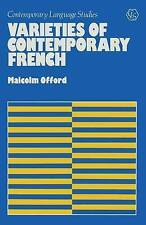 Varieties of Contemporary French (Contemporary language studies)-ExLibrary