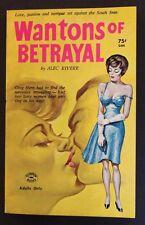 ALEC RIVERE (CHARLES NUETZEL) SIGNED WANTON OF BETRAYAL SCORPION BOOKS 102 AF