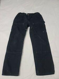 USA Carhartt B01 BLK Duck Double Knee Work Pants Actual Size 38 X 30 - M7265