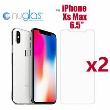 2x Apple Genuine NUGLAS Tempered Glass Screen Protector for iPhone X 8 7 5 6 6s