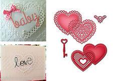 Spellbinders Cutting Dies Lace Hearts metal die set S5-204 wedding valentines
