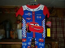 DISNEY CARS TODDLER 2 PIECE PAJAMA SET SIZE 2T COLOR RED BLUE SHORT SLEEVE NEW
