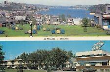 Hôtel Motel Au Parasol CHICOUTIMI Quebec Canada Carte Postale Publicitaire