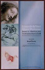 Leonardo Da Vinci Master Draftsman Exhibition Lithograph for Met Museum 2003