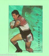 1996 RUGBY LEAGUE  ACETATE CARD  W2  JASON TAYLOR, NORTH SYDNEY BEARS