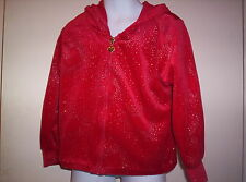 Girl's Red  sweater with hood sz 5/6