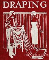 DRAPING Course Drape Instructions Fashion Design Window Trimming DIY Books on CD