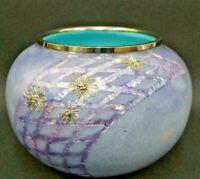 Cloisonne Vase Bronze Flower Unique Purple Old Japanese Antique Old Japan Art