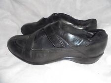 CLARKS ACTIVE AIR WOMEN BLACK LEATHER STRAP TRAINER SHOE SIZE UK 6.5 EU 39.5 VGC