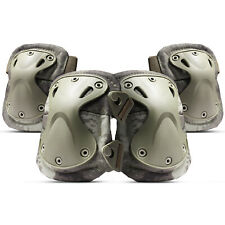 Tactical Knee & Elbow Pads Protective Gear/Accessories Equipment, 4 Pcs, Tacs