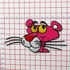 """THE PINK PANTHER """"Panthers"""" Embroidered Iron-On Patch for Jackets etc"""