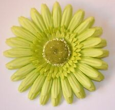 "5"" Pale Green Gerbera Daisy Silk Flower Hair Clip Bridesmaid Wedding Prom"
