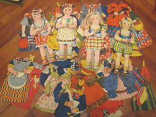 LARGE VINTAGE PAPER FASHION DOLLS 30s