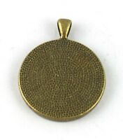 15 Antiqued bronze Round Cabochon Settings Charm 30mm