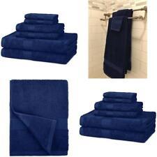 Luxurious Bath Towel 6 Piece Set Bathroom Towels 100% Egyptian Cotton Navy Blue