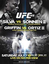 Forrest Griffin & Chael Sonnen Signed UFC 148 8.5x11 Poster Autograph 2012 Photo