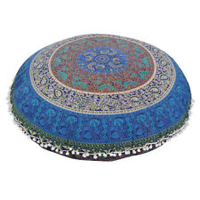Round Decorative Home Polyester Floor Pillow Cushion Seating Throw Cover Mandala