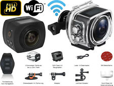 Full HD 1080p Action Cam 360° WiFi - Sportkamera Wasserdicht Helmkamera 30 FPS