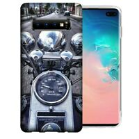 For Samsung Galaxy S10 Motorcycle Chopper Design Gel Phone Case Cover